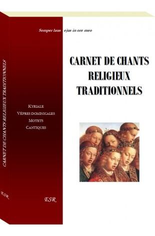 CARNET DE CHANTS RELIGIEUX TRADITIONNELS