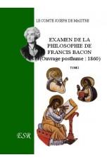 EXAMEN DE LA PHILOSOPHIE DE FRANCIS BACON.