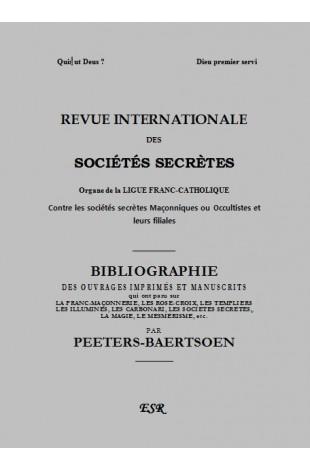 R.I.S.S. GRISE, BIBLIOGRAPHIE DE PEETERS-BAERTSOEN