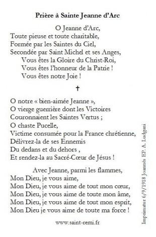 Prière à Jeanne