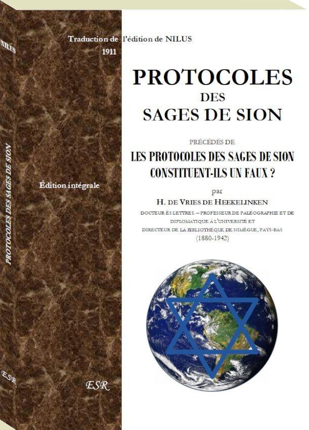 PROTOCOLES DES SAGES DE SION précédés de  LES PROTOCOLES DES SAGES DE SION CONSTITUENT-ILS UN FAUX ?