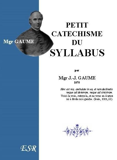 PETIT CATECHISME DU SYLLABUS