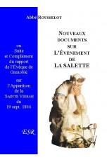 LA SALETTE, nouveaux documents