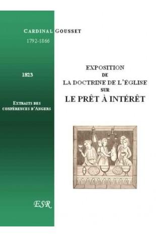 EXPOSITION DE LA DOCTRINE DE L'EGLISE SUR LE PRÊT A INTERET